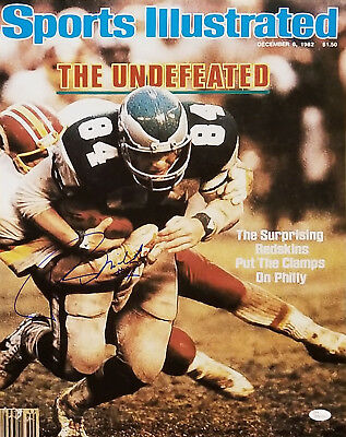 Dashing Washington Redskins Sports Mem, Cards & Fan Shop Rich Milot Signed 16x20 Si Cover Photo W/jsa Aesthetic Appearance Football-nfl