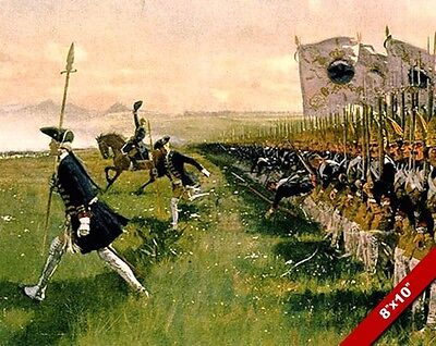 PRUSSIAN INFANTRY LINE ATTACK PAINTING MILITARY HISTORY WAR ART CANVAS PRINT