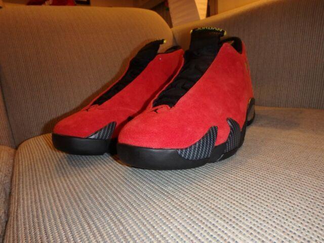 new concept b14b3 7c017 Men s Jordan Retro 14 Ferrari 654459-670 Red Size 14 New ...