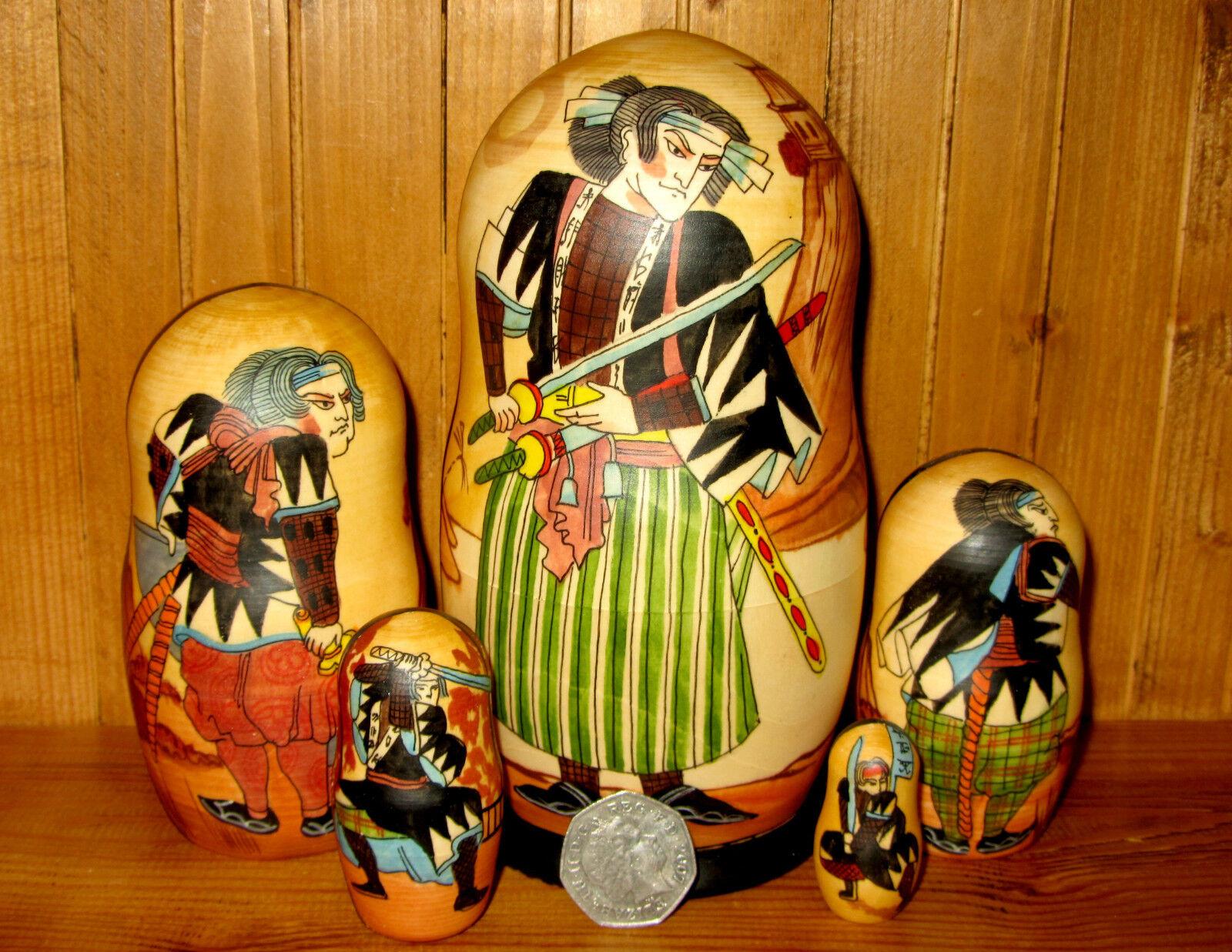 Poupées Gigognes Russes Matryoshka 5  Japon Samurai Warriors Petrushina Cadeau  haute qualité générale