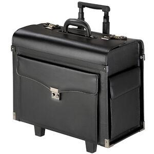 Alassio Pilotenkoffer ANCONA Notebookfach Businesskoffer Leder schwarz 45042