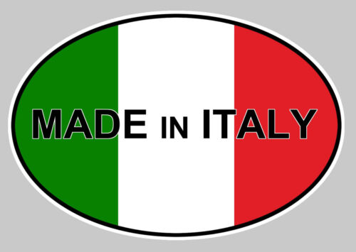 OVALE DRAPEAU MADE IN ITALY 12cm AUTOCOLLANT STICKER AUTO MOTO OA011