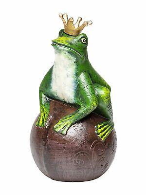 Froschkönig Frosch Silber Märchen Figur Skulptur Krone Dekoration Prinz Küssen