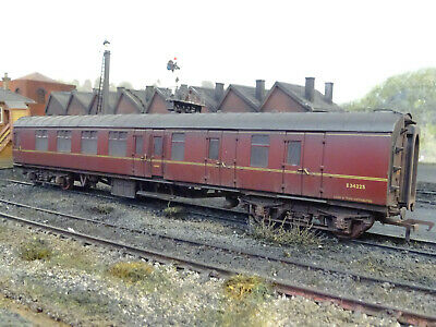 Analitico Bachmann Br Maroon Mk1 Brake Coach E34225 (lineside Weathered) 39-076g Limpid In Sight