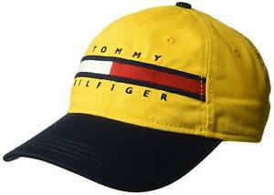 4f7a8936b3d Tommy Hilfiger Mens Ardin Dad Baseball Cap 100% Cotton Yellow One ...