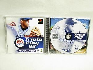 PS1-Major-League-Baseball-TRIPLE-PLAY-99-with-SPINE-Card-Playstation-p1