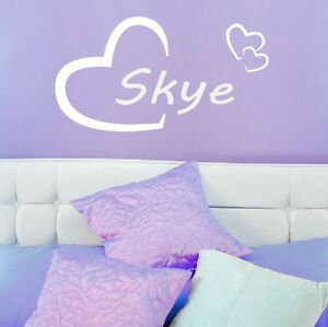 Skye Girls Heart Name Wall Sticker  Love Heart Art Decor Transfers - Tamworth, Staffordshire, United Kingdom - Returns accepted Most purchases from business sellers are protected by the Consumer Contract Regulations 2013 which give you the right to cancel the purchase within 14 days after the day you receive the item. Find - Tamworth, Staffordshire, United Kingdom