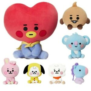 BTS BT21 PLUSH DOLL Keychain Authentic 7 Style Standing Toy Cartoon Cooky K-pop