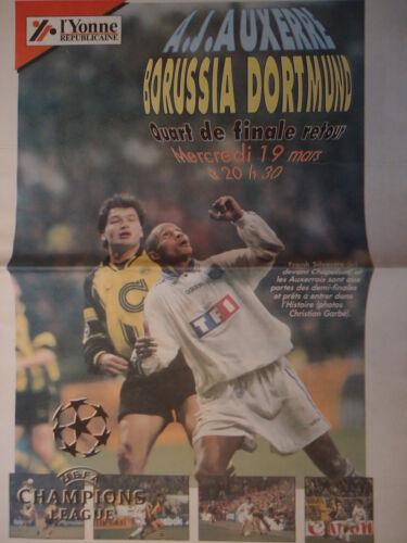 Borussia Dortmund Programm UEFA CL 1996//97 AJ Auxerre