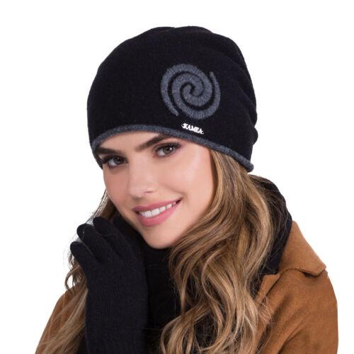 Kamea Dame Wintermütze Kopfbedeckung warm dick gemustert Szila