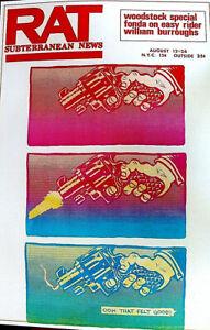 PRE-WOODSTOCK-BY-SPAIN-RODRIGUEZ-POSTER-RAT-SUBTERRANEAN-NEWS-1969-RARE