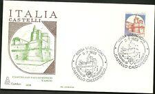 ITALIA BUSTA CAPITOLIUM 1983 Castello CALDORESCO ANNULLO SPECIALE VASTO  FDC