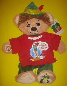 New Build-A-Bear 16 in BUDDY THE ELF with RED SHIRT Teddy Plush Christmas