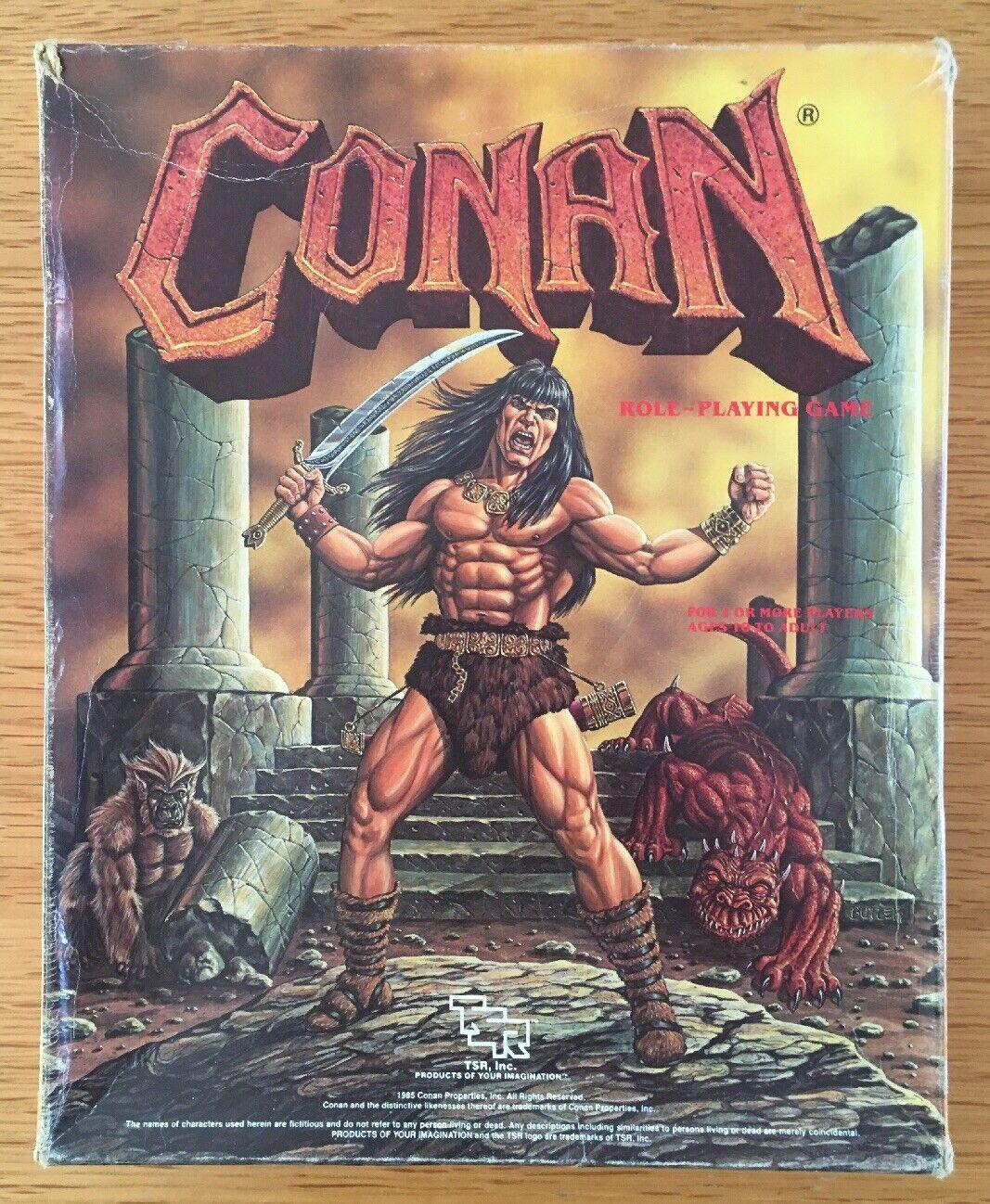 Conan Role Jugaring Juego Tsr 7014 Box Set Completo 1985 Rara