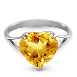 Genuine-Citrine-10-mm-Heart-Gemstone-Solitaire-Ring-14K-Yellow-White-Rose-Gold