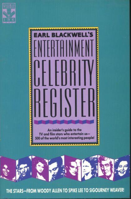 Earl Blackwell's Entertainment Celebrity Register by Earl Blackwell (1990, PB)