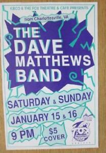 DAVE MATTHEWS BAND BOULDER 1994 CONCERT POSTER