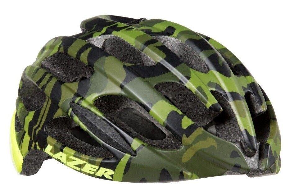 Lazer BLADE Cycling Helmet Camo giallo 22 Vents ARS Adjustable Head Basket