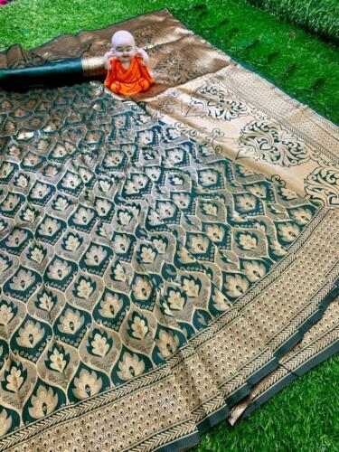Designer Bollywood Banarasi Silk with Rich Pallu Sari Party Wear Indian Saree VV