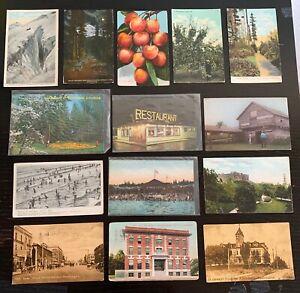 Lot-of-14-Original-Vintage-Postcards-Washington-RPPC-North-Yakima-Seattle