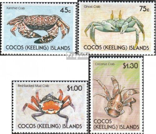 KokosIslands 224227 complete.issue. unmounted mint never hinged 1990 Crabs