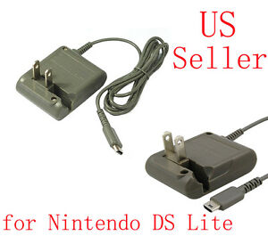 ac adapter wall home travel charger power cord for nintendo ds lite dsl ndsl ebay. Black Bedroom Furniture Sets. Home Design Ideas