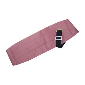 Dusty Rose Satin Cummerbund