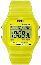 Timex T2N808, Mid-Size Yellow Strap Digital Watch, Alarm, Indiglo,  T2N8089J
