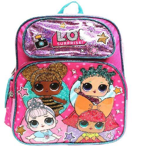 "Small School Backpack 12/"" Girls Bag Pink GO LOL Bag L.O.L Surprise"