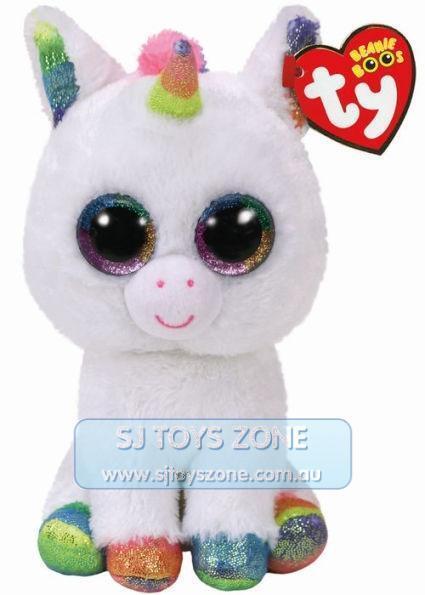 Ty Beanie Boos Regular - Pixy White Unicorn Plush Toy