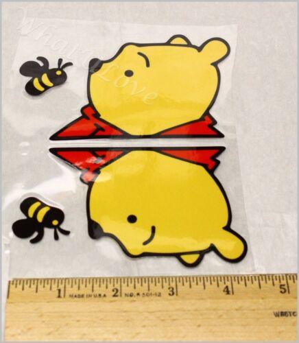 US Seller Winnie the Pooh Vinyl Rear Window Sticker Free Shipping Set of Two