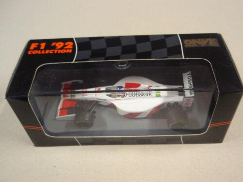 Onyx 146 footwork arrows f1 1:43 Aguri Suzuki nuevo y en su embalaje original