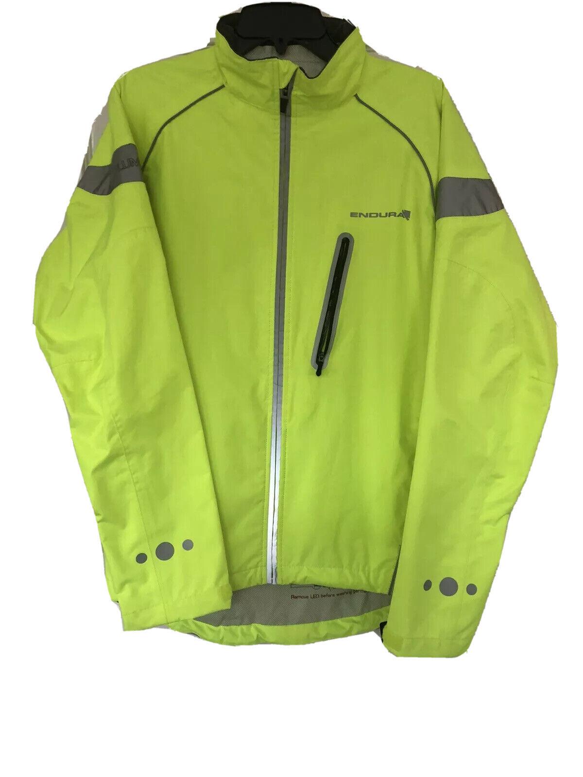 Small Endura Womens Luminite DL Cycling Jacket Hi Viz Green