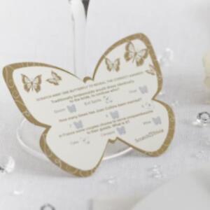 Neviti-oro-plata-corazones-mariposa-Paquete-de-50-preguntas-BODA-Scratch-Tarjeta