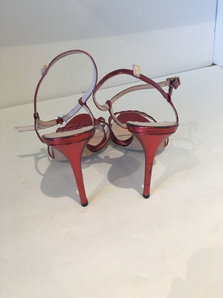 NEW SJP by in Sarah Jessica Parker 'Brigitte' Sandale in by ROT Specchio 4be054