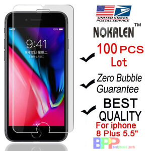 100x-Wholesale-Lot-Tempered-Glass-Screen-Protector-for-Apple-iPhone-8-Plus-5-5-034