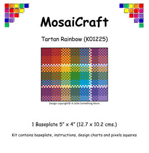 MosaiCraft-Pixel-Craft-Mosaic-Art-Kit-039-Tartan-Rainbow-039-Pixelhobby