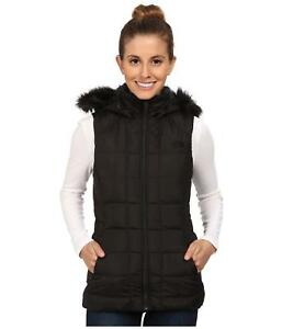 db3abae04c6a THE NORTH FACE WOMENS GOTHAM VEST HOODED INSULATED 550 DOWN BLACK ...