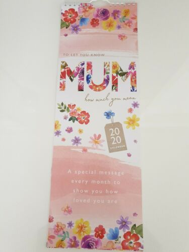 """2020 MUM /""""HOW MUCH YOU MEAN/"""" SLIMLINE WALL CALENDAR.READY TO HANG"""