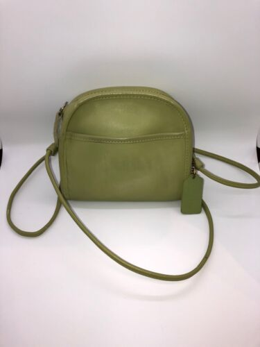 Vintage Coach Bag Abbie Lime Green Crossbody
