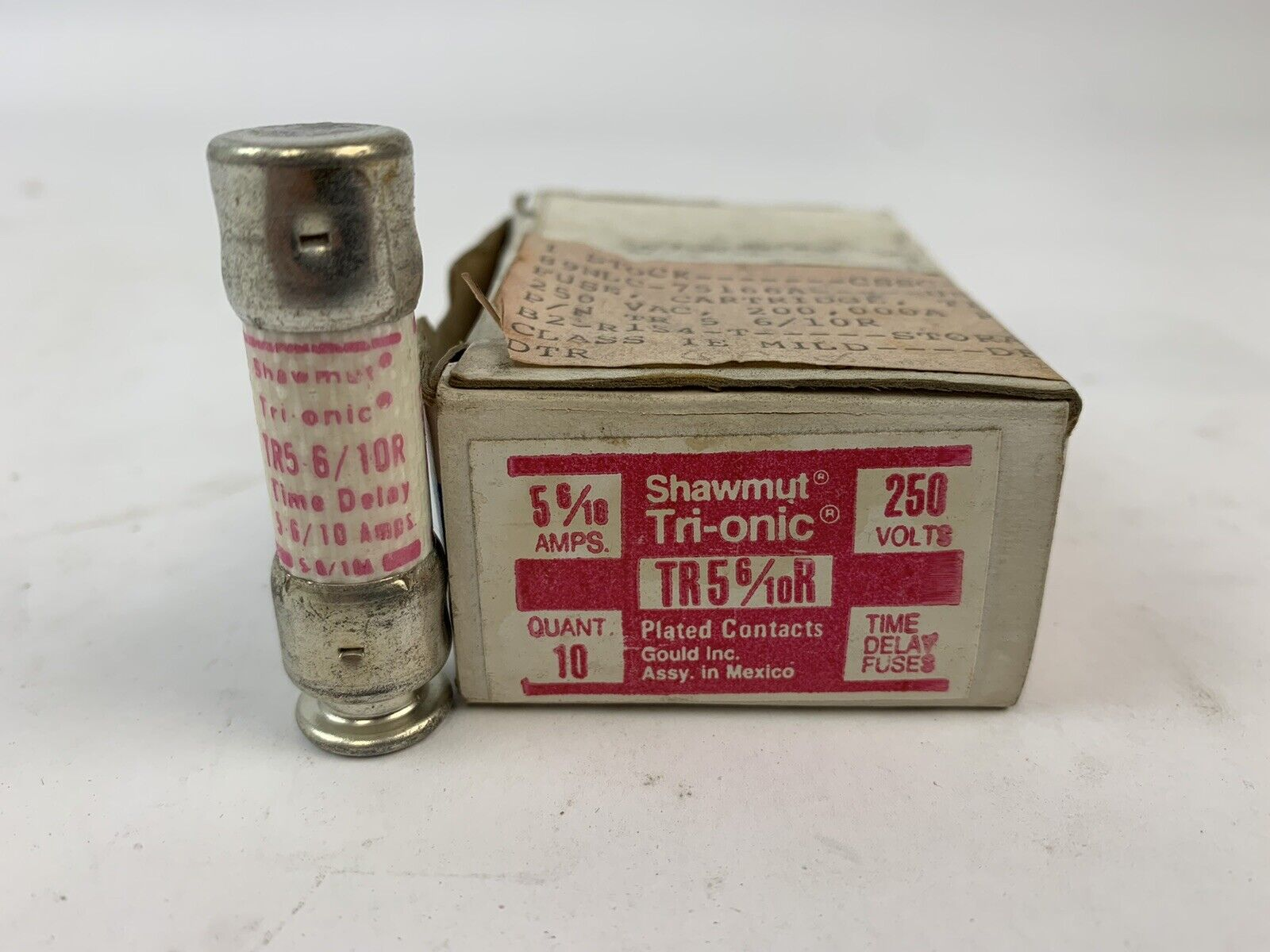 Details about  /1 BOX 10 COUNT GOULD SHAWMUT TRI-ONIC FUSES 3 A 250V MODEL TR3R