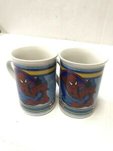 2-Spiderman-Go-Spidey-Coffee-Mug-Cup-2011-Marvel-Comics-Ceramic-Collectible