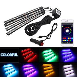 12V-Car-Interior-LED-Strip-Lights-RGB-Multicolour-Control-APP-Atmosphere-Decor