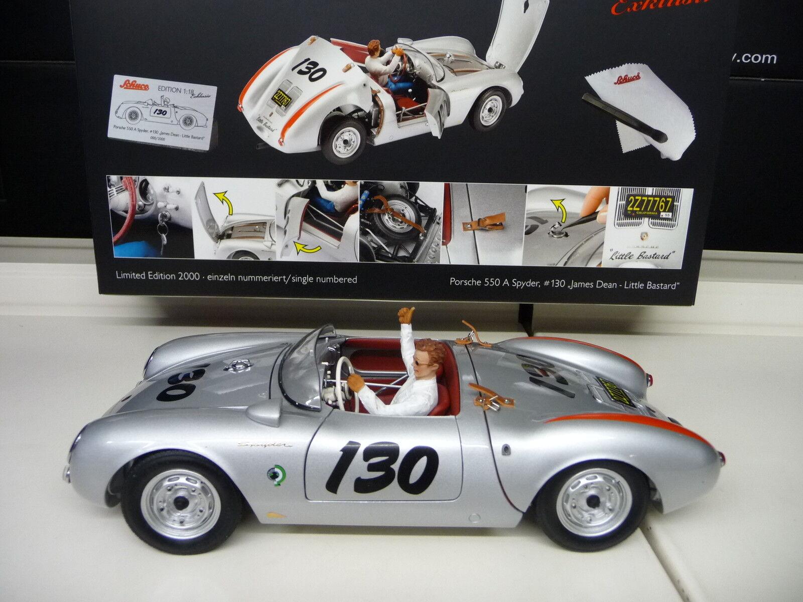 1:18 Schuco Porsche 550 A JAMES DEAN Spyder Spider Little Bastard #130 NEUF NEW | Beau Design