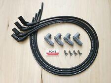 4 Msd 85mm Ls Ls1 Lsx Lt Lt1 Universal 90 Degree Spark Plug Boots Wires Black