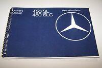 1978 Mercedes 450sl 450slc Owners Manual W107 Parts Service Reprint
