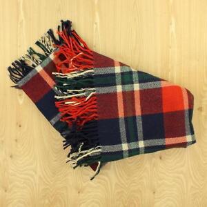 vtg-TROY-ROBE-wool-blanket-throw-63-034-x-53-034-plaid-stadium
