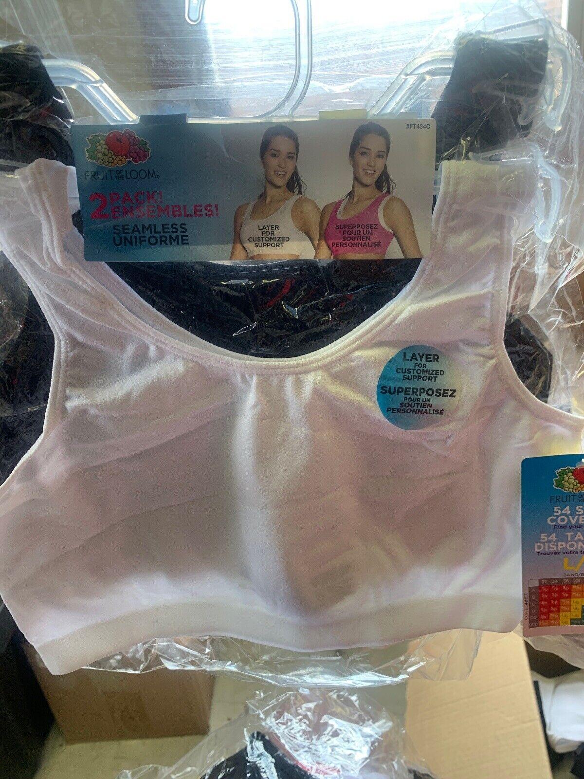 Fruit of the Loom Girls Big Santoni Sports Bra 2 Pack