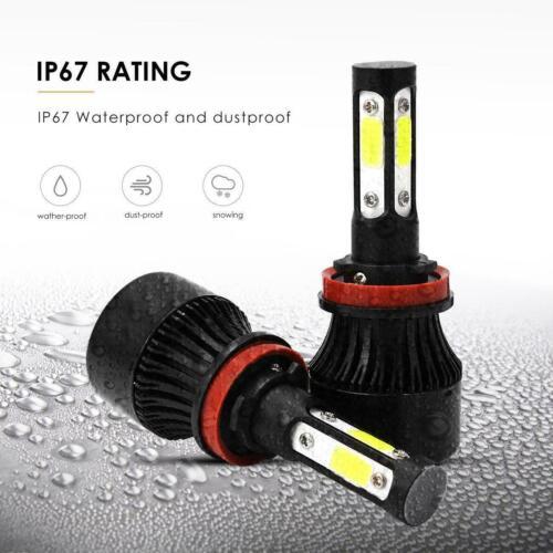 2X 4-Sides White LED H11 Low Beam Bulbs For 04-15 Volvo VNL VNM 630 670 730 780