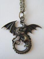 Age Dragon Pendant On Bronze Neck Chain Necklace (choose) 18 20 24 Chain